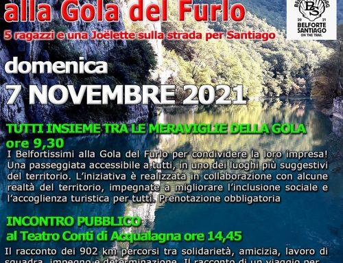 BELFORTISSIMI IN CAMMINO ALLA GOLA DEL FURLO – 7 NOVEMBRE 2021